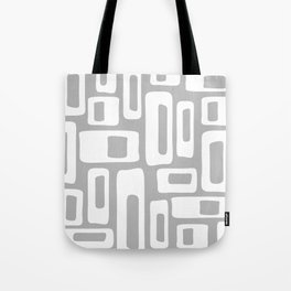 Retro Mid Century Modern Abstract Pattern 335 Gray Tote Bag