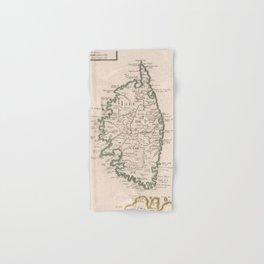 Vintage Map of Corsica France (1697) Hand & Bath Towel