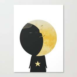 The day I kissed the Moon Canvas Print