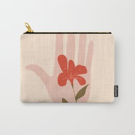 Flower on the Palm of the Hand Carry-All Pouch