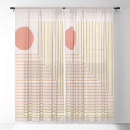 Lines & Circle 02 Sheer Curtain