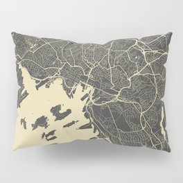 Oslo Map yellow Pillow Sham