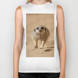 Little cheeky meerkat Biker Tank