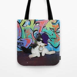Cat Attitude.....Kitten and Graffiti Wall Tote Bag