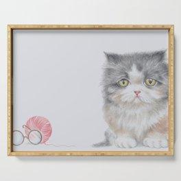 Grandma's Kitten Serving Tray