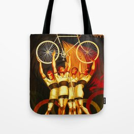 Vintage Olympique Bicycle Ad Tote Bag