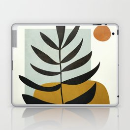 Soft Abstract Large Leaf Laptop & iPad Skin