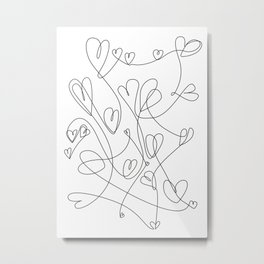 love will keep us together Metal Print