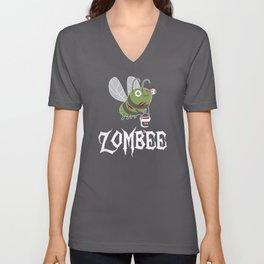Zombie Zombee Zombie Apocalypse Halloween Costume Unisex V-Neck