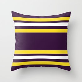 Purple and Yellow Bold Stripes Throw Pillow