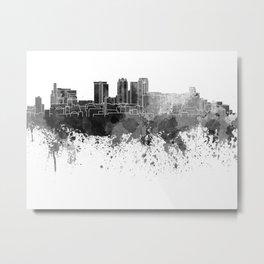 Birmingham AL skyline in black watercolor on white background Metal Print