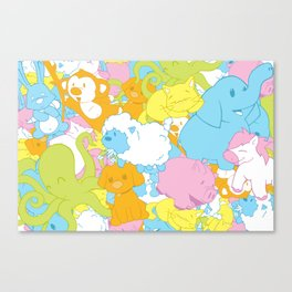 Animal March! Canvas Print