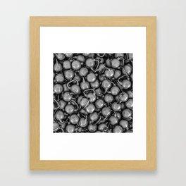 Kettlebells B&W Framed Art Print
