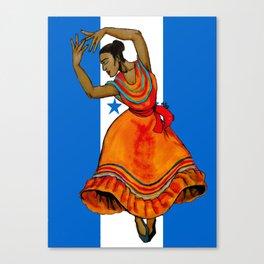 Tu Bandera Es Un Lampo De Cielo Canvas Print