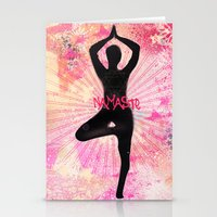 namaste Stationery Cards featuring Namaste by SannArt