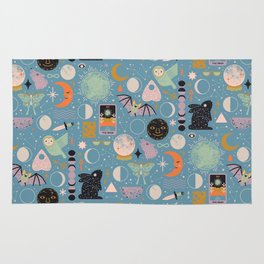 Lunar Pattern: Blue Moon Rug