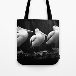 Pelican Trio black and white Tote Bag