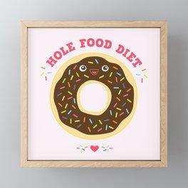 chocolate donut hole food diet funny gift Framed Mini Art Print
