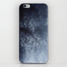 Blue veiled moon iPhone Skin