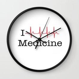 I heart Medicine Wall Clock