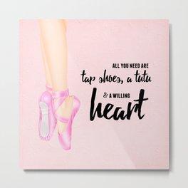Tap shoes, tutu & heart Metal Print