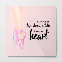 Tap shoes, tutu & heart Metal Print
