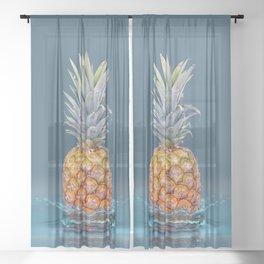 Pineapple Strike Sheer Curtain
