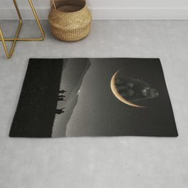 Ride on the moon Rug