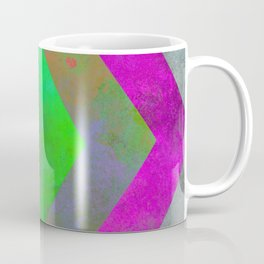 Textured Direction - Abstract, multi coloured, geometric painting Coffee Mug