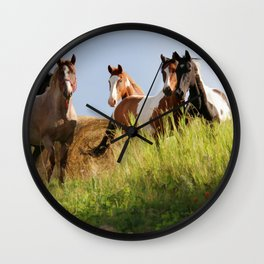 The Wild Bunch-Horses Wall Clock