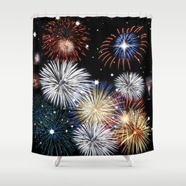 Grand Finale Firework Show Shower Curtain