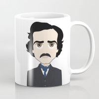 edgar allan poe Mugs featuring Edgar Allan Poe by Korey Leach