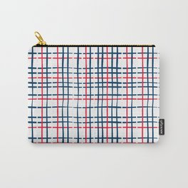 4th of July Skinny Gingham Carry-All Pouch
