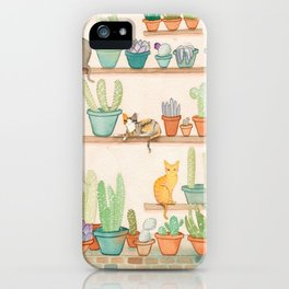 Cats in the Cactus Room iPhone Case