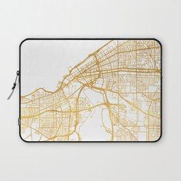 CLEVELAND OHIO CITY STREET MAP ART Laptop Sleeve