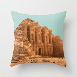 Petra, Jordan Artwork Throw Pillow