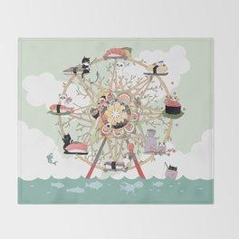 The Sushi Wheel Throw Blanket