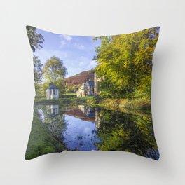 The Autumn Pond Throw Pillow