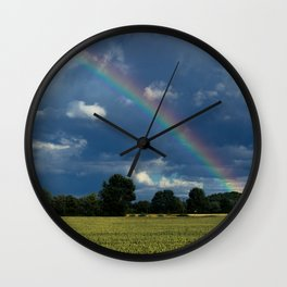 Living in the rainbow land Wall Clock