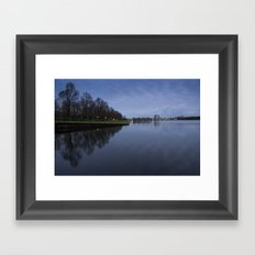 A quiet morning Framed Art Print
