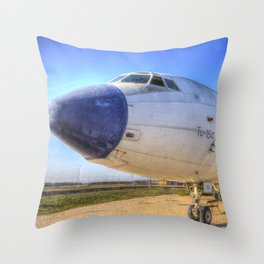 Malev Tupolev TU-154 Jet Throw Pillow