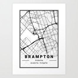 Brampton Light City Map Art Print