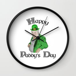 Happy Paddy Losty Day Wall Clock