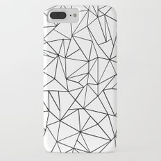 Abstract Outline Black on White Slim Case iPhone 7 Plus