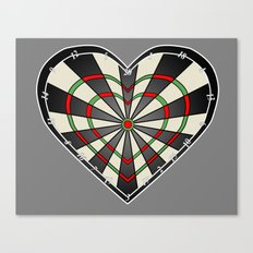 Don't use my heart as a Dartboard Canvas Print
