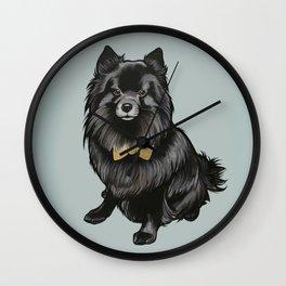 Ozzy the Pomeranian Mix Wall Clock