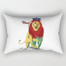 Rasta Lion Rectangular Pillow