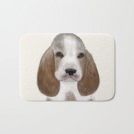little basset hound Bath Mat