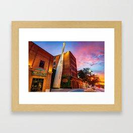 Louisville Slugger Baseball Bat - Kentucky Fire Sunset Framed Art Print