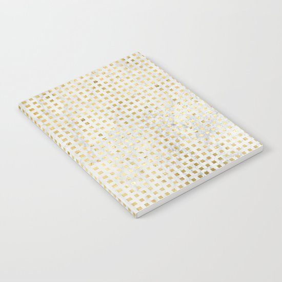 gOld squares Notebook